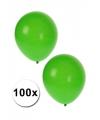 Decoratie ballonnen groen 100 st