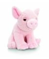 Keel Toys pluche varken knuffel roze 25 cm