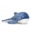 Keel Toys pluche walvis knuffel blauw 35 cm
