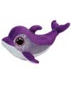 Ty Beanie dolfijnen knuffeltje paars 15 cm