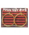 Gouden grote oorbellen piraten