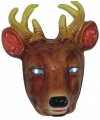 Plastic herten masker voor volwassenen