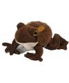 Speelgoed bruine knuffel pad 18 cm