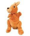 Pluche handpop kangoeroe 22 cm