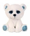 Pluche ijsbeer knuffel zittend 21 cm