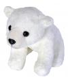 Knuffeldiertje ijsbeer pluche wit 15 cm
