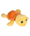 Pluche schildpad knuffel geel/oranje 27 cm