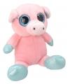 Pluche varken knuffel 18 cm roze
