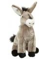 Speelgoed knuffels grijze ezel 26 cm