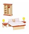 Slaapkamer meubeltjes voor een poppenhuis