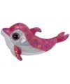 Roze pluche kinder Ty Beanie dolfijn  24 cm