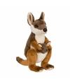 Kangoeroe met baby knuffels 19 cm