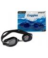 Zwarte voordelige zwembril met latex band