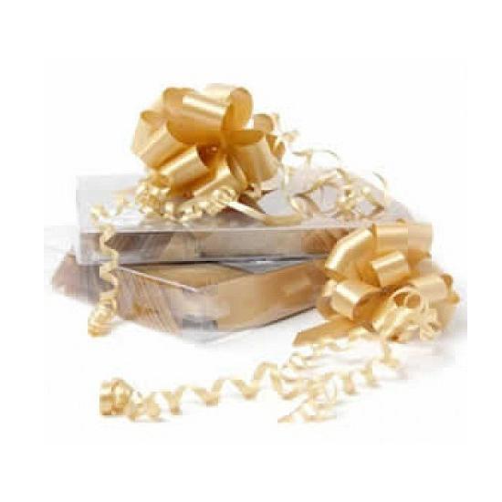 Decoratie strik goud 8 cm Cadeau
