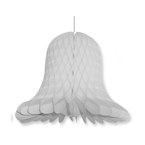 1x Kerstversiering grijze kerstklokken lampionnen 20 cm