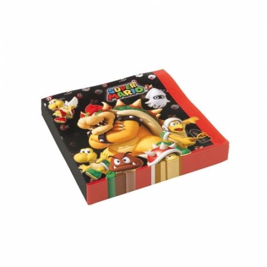20x stuks Super Mario thema servetten