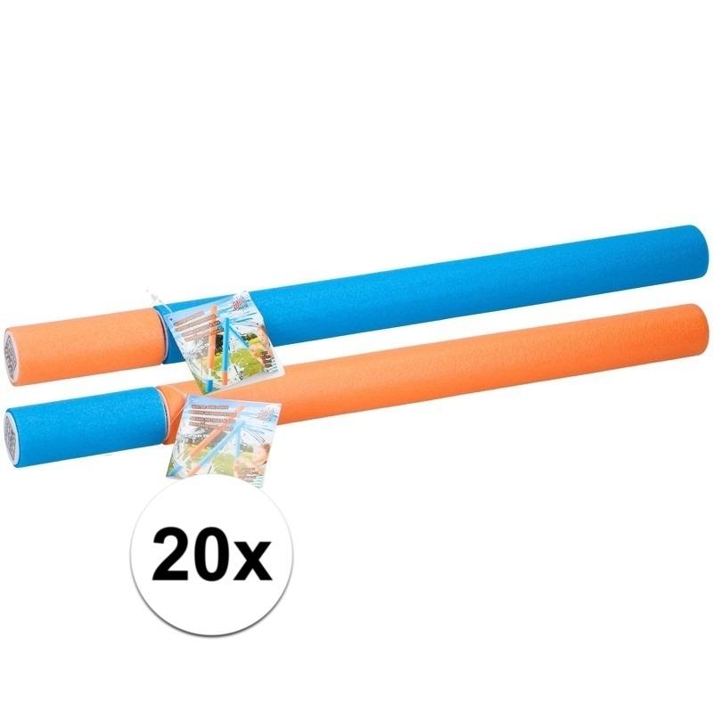 20x stuks waterpistolen van foam 54 cm