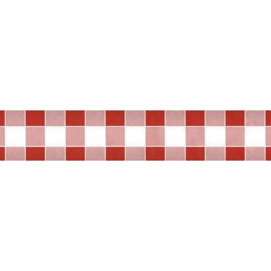 2x Rood/wit ruitjes papieren tafellaken/tafelkleed 1000 x 118 cm