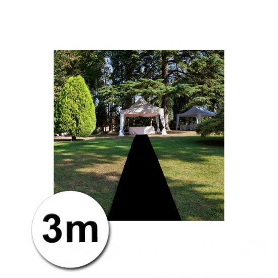 3 meter zwarte loper 1 meter breed