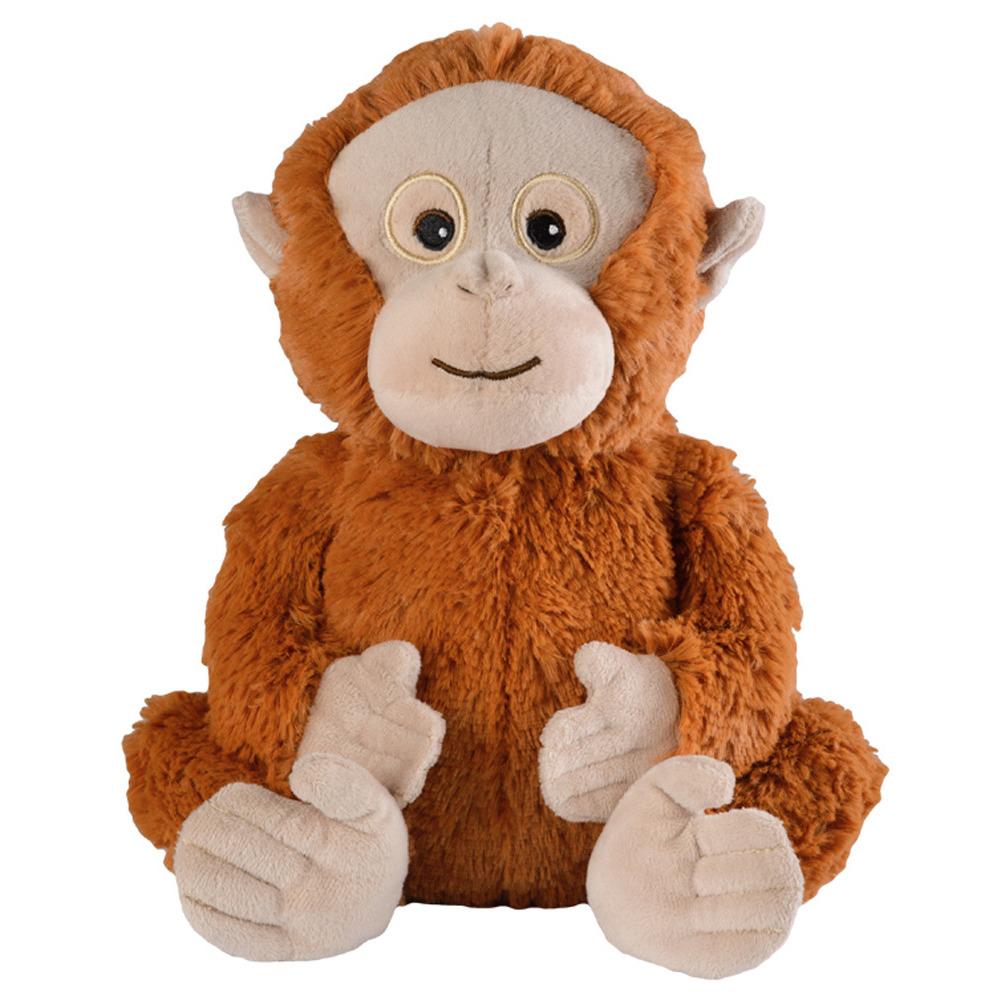 Apen speelgoed artikelen opwarmbare orang oetan knuffelbeest 33 cm