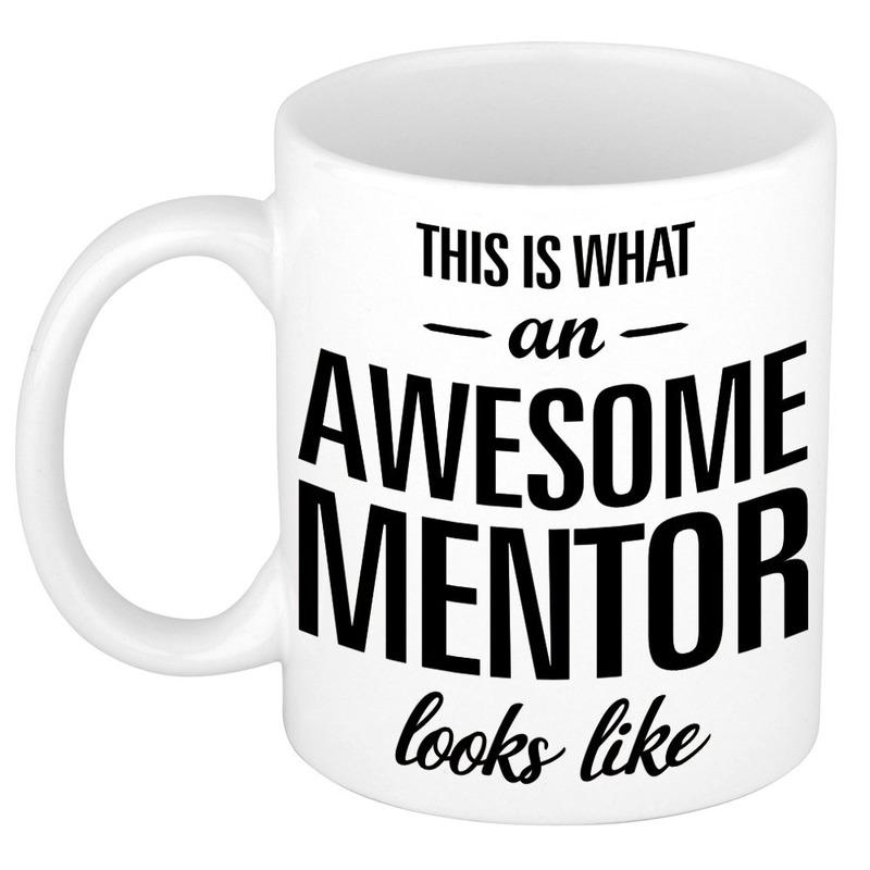 Awesome mentor cadeau mok - beker voor leraar 300 ml