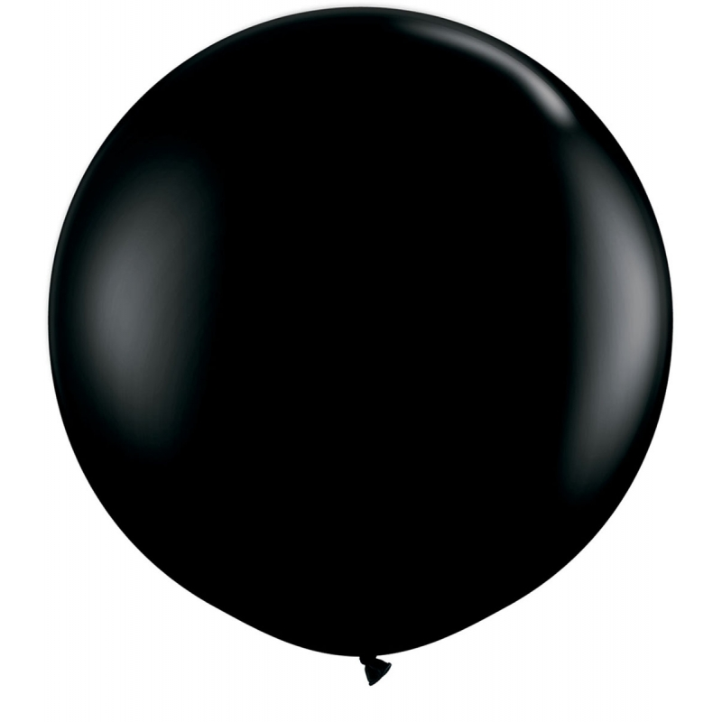 Qualatex mega ballonnen 90 cm. grote qualatex ballon van ongeveer 90 cm diameter in de kleur zwart. deze ...