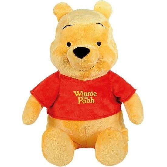 Beren speelgoed artikelen Disney Winnie de Poeh knuffelbeest geel 34 cm