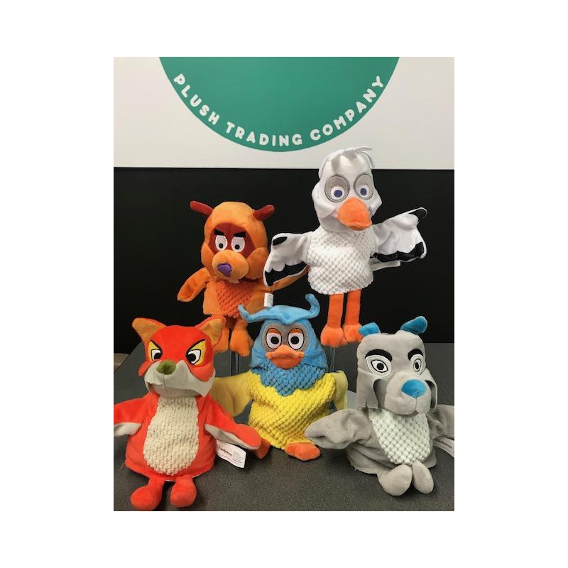 Bevers speelgoed artikelen Ed/Willem Bever handpop knuffelbeest 25 cm Fabeltjeskrant