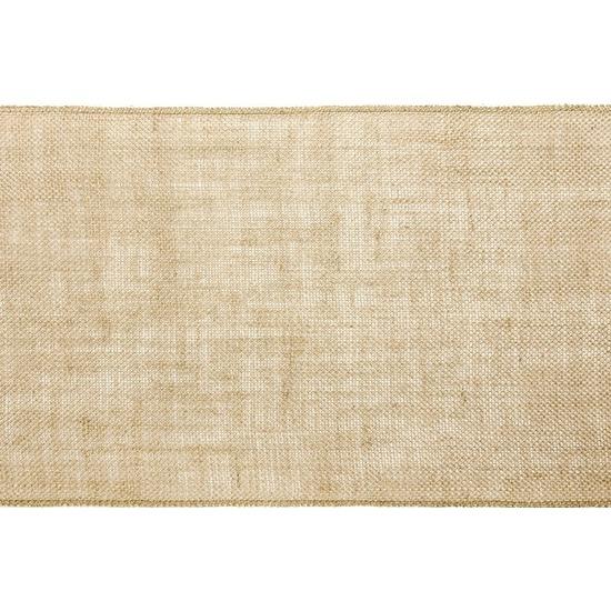 Bruiloft/huwelijk jute tafelloper 28 x 500 cm