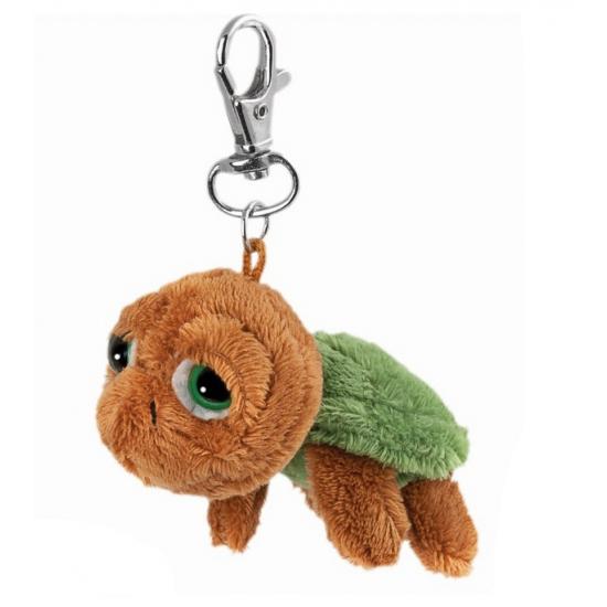 Bruin knuffel schildpadje sleutelhanger