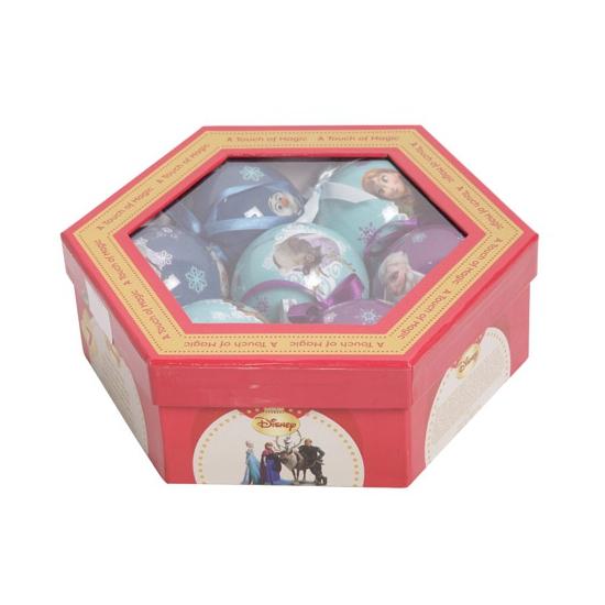 Cadeauset Frozen kerstballen 7 stuks
