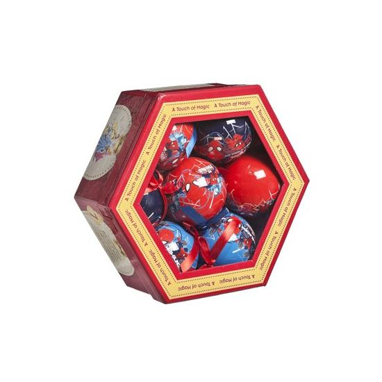 Cadeauset Spiderman kerstballen 7 stuks