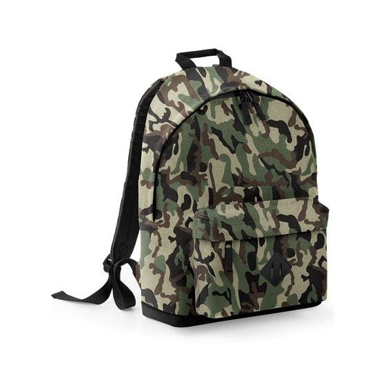 7a6333cc2d9 Camouflage rugtas/schooltas/rugzak 42 cm. rugzak in woodland camouflage  print gemaakt van