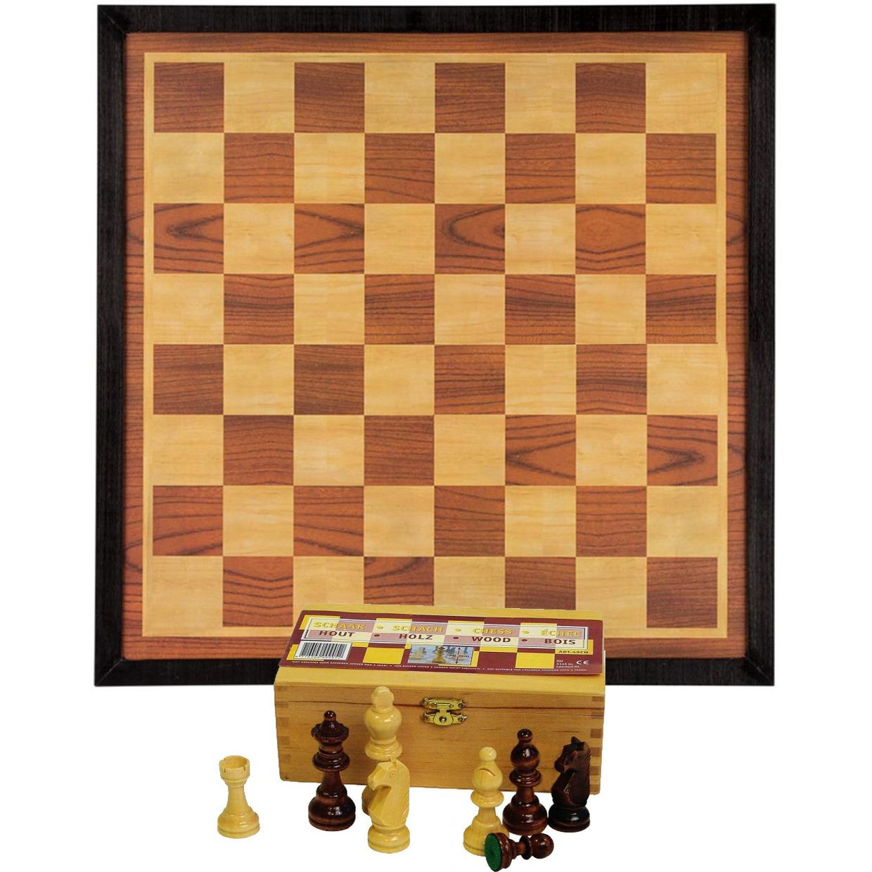 Compleet Schaakspel - schaakstukken van 7.6 cm en schaakbord van 54 x 54 cm