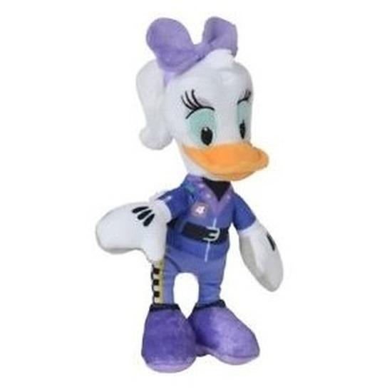 Disney pluche Katrien Duck auto race knuffel 22 cm