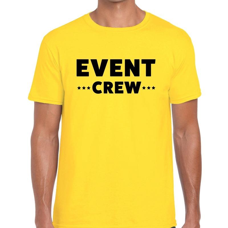 Event crew - personeel tekst t-shirt geel heren