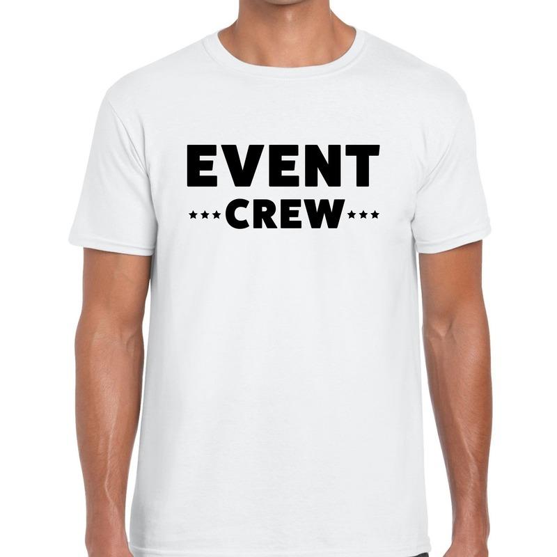 Event crew - personeel tekst t-shirt wit heren