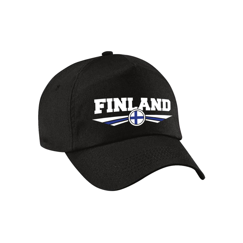 Finland landen pet - baseball cap zwart volwassenen