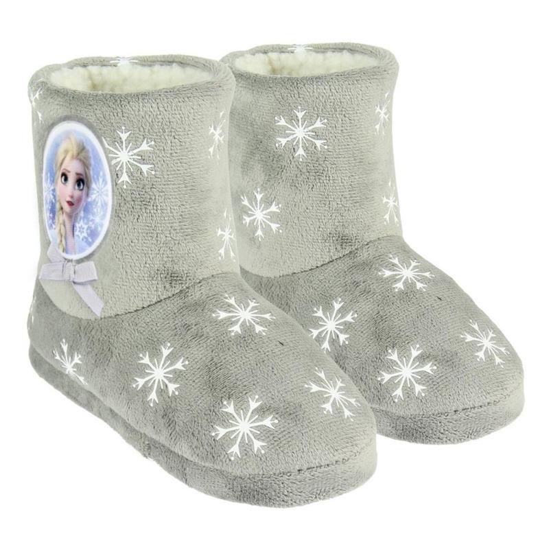 Frozen sloffen/pantoffels Elsa grijs voor meisjes