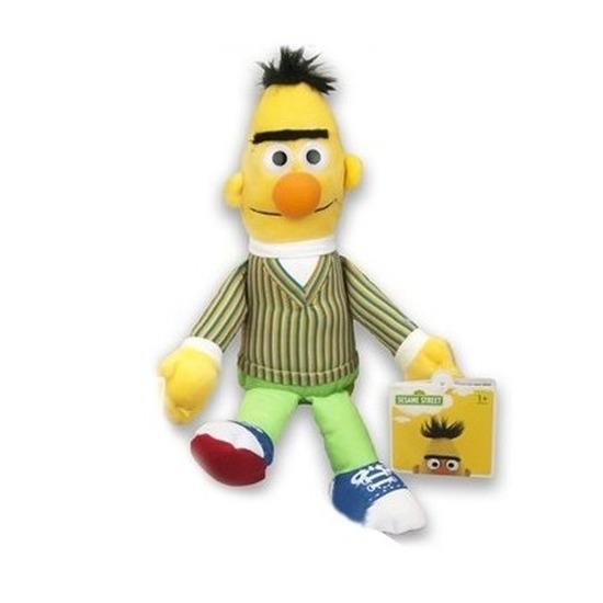 Gele pluche Bert Sesamstraat knuffel/pop 17 cm