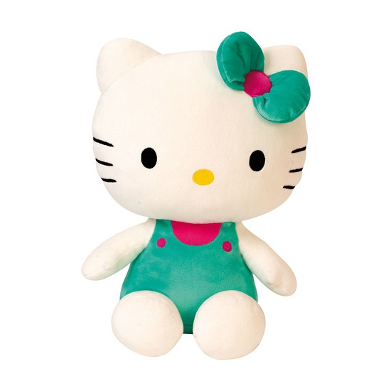 Groen pluche Hello Kitty knuffel 30 cm
