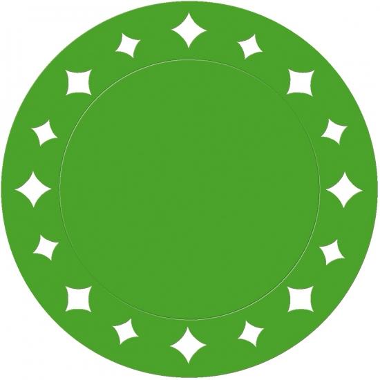 Groene placemats met sterren 33 cm