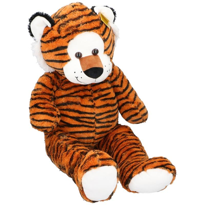 Grote pluche tijger knuffeldier 100 cm speelgoed