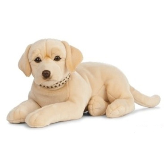 Honden speelgoed artikelen Labrador knuffelbeest blond 60 cm