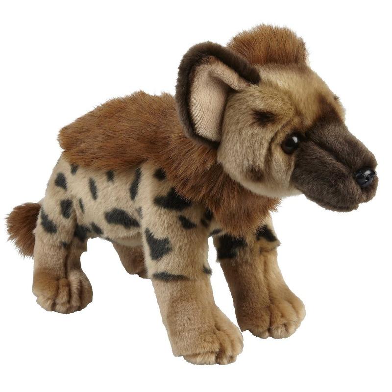 Hyenas speelgoed artikelen hyena knuffelbeest bruin 28 cm