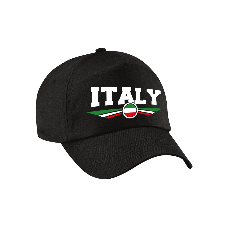 Italie - Italy landen pet - baseball cap zwart volwassenen