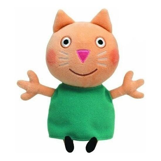 Katten/poezen speelgoed artikelen Peppa Pig knuffelbeest kat Mollie Mieze 15 cm