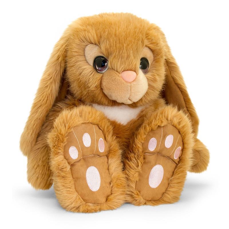 Keel Toys pluche bruine konijnen knuffel 35 cm