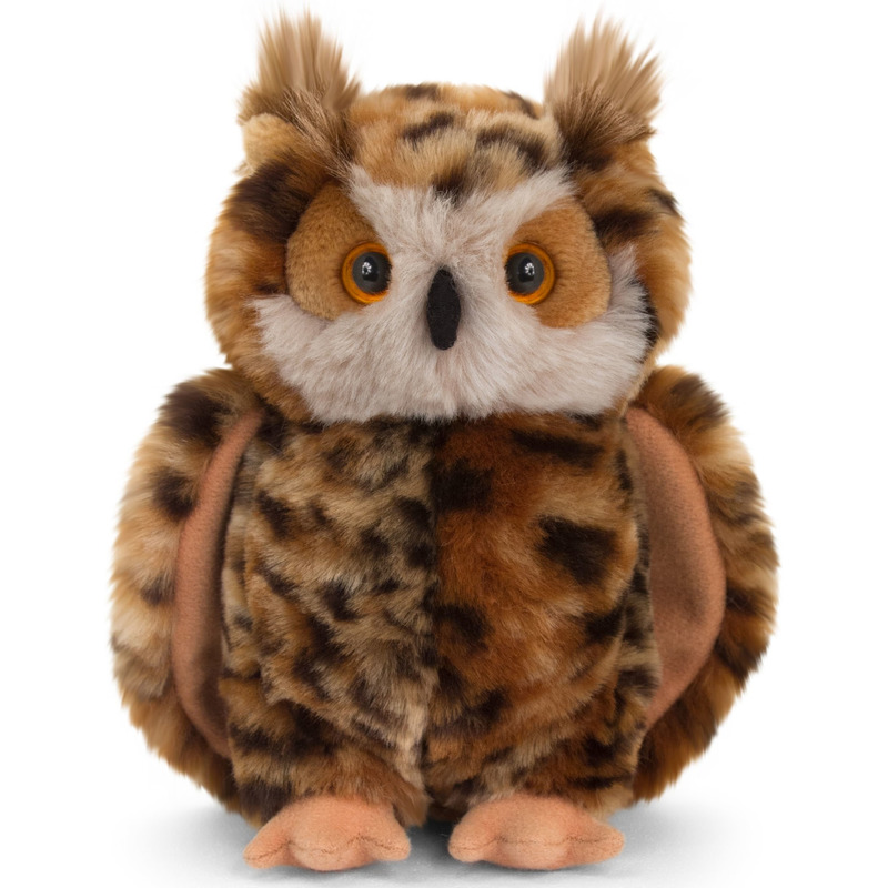 Keel Toys pluche bruine oehoe uil knuffel 18 cm