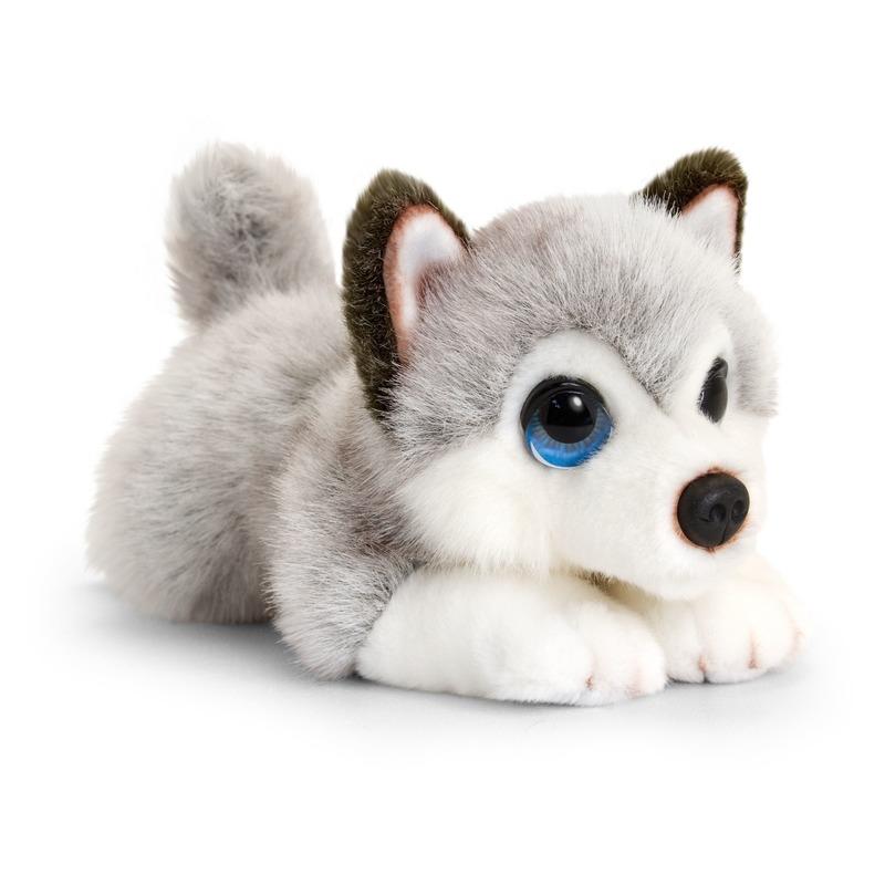 5ef09fd212116b Keel Toys pluche grijs/witte Husky honden knuffel 25 cm bestellen ...